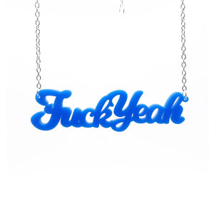 Biden blue fuck yeah necklace