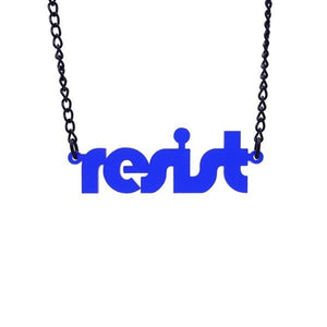 indigo frost retro disco resist necklace