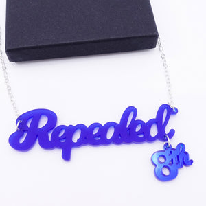 Indigo frost Repealed the 8th necklace with indigo mirror 8th shown with box