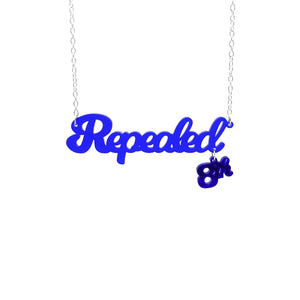 Indigo frost Repealed the 8th necklace with indigo mirror 8th