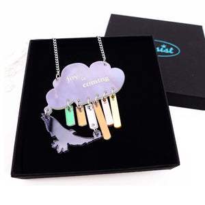Joy is coming necklace in sunshower colours