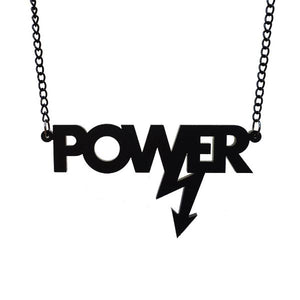 matte black Mary Beard power necklace