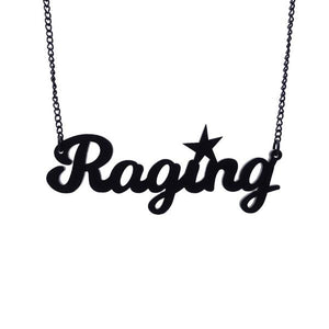matte black raging necklace