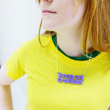 Load image into Gallery viewer, KEEP ON TRUCKIN' necklace and new zipper pull!