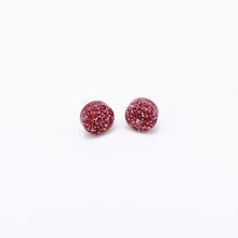 Load image into Gallery viewer, rose pink glitter dot earrings