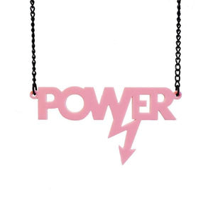 baby pink Mary Beard power necklace