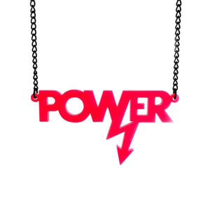 hot pink Mary Beard power necklace