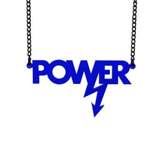 Load image into Gallery viewer, indigo frost Mary Beard power necklace