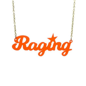 chilli red frost raging necklace