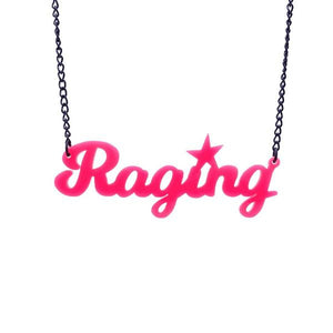 hot pink raging necklace