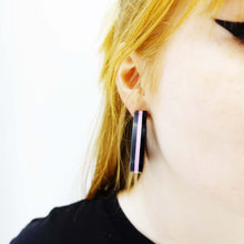 Load image into Gallery viewer, GIRLY SWOT statement hoops!