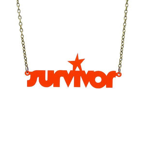chilli red frost survivor necklace