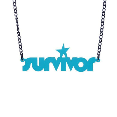 teal frost survivor necklace