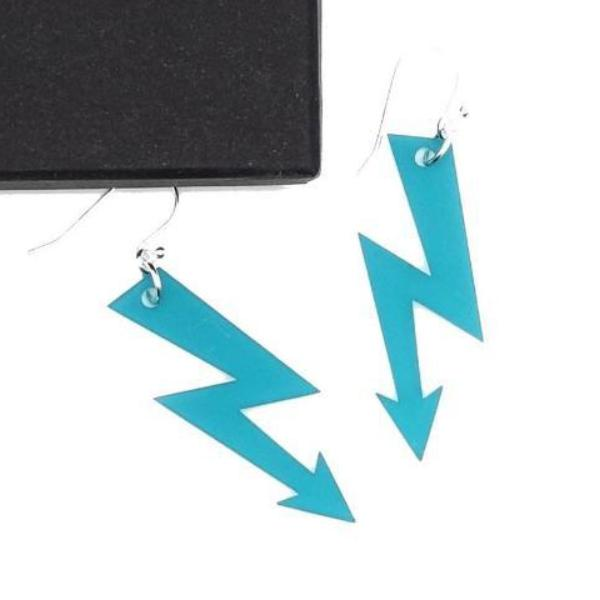 teal frost medium high voltage earrings