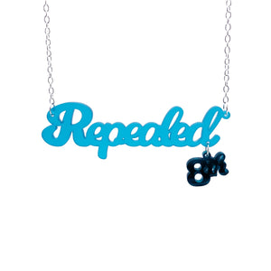 Teal frost Repealed the 8th necklace with teal mirror 8th