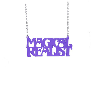 violet frost magical realist necklace for writers and book lovers