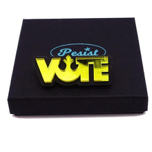 Load image into Gallery viewer, yellow mirror Star Wars rebel alliance vote brooch