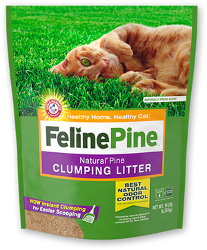 Feline Pine Natural Pine Scoop-able Clumping Cat Litter