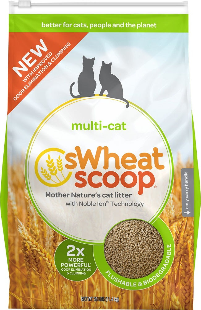sWheat Scoop Fast Clumping Natural Multi Cat Litter