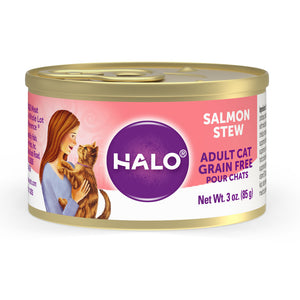 Halo Holistic Grain Free Adult Salmon Stew Canned Cat Food