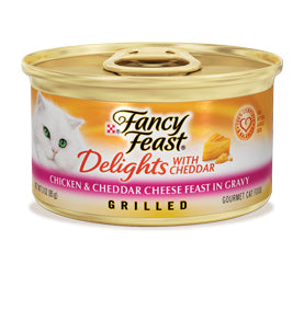 Fancy Feast Delights-Chicken and Cheese Canned Cat Food