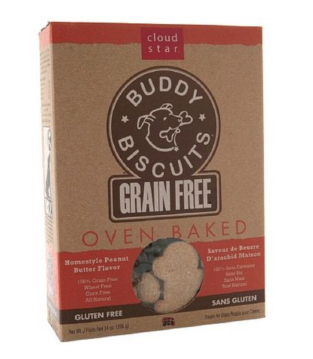 Cloud Star Buddy Biscuits Grain Free Oven Baked Peanut Butter Dog Treats