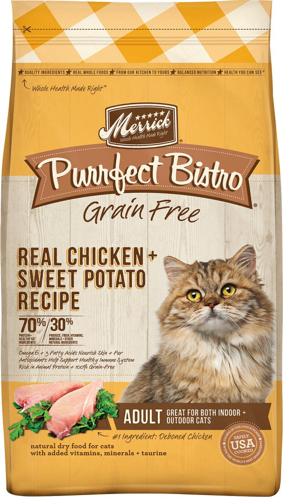 Merrick Purrfect Bistro Grain Free Real Chicken & Sweet Potato Recipe Dry Cat Food