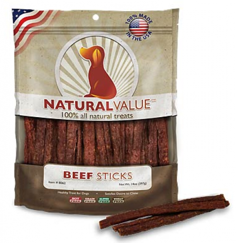 Loving Pets Natural Value Beef Sticks Dog Treats