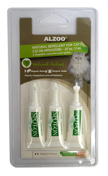 Alzoo Spot On Natural Flea and Tick Repellent for Cats