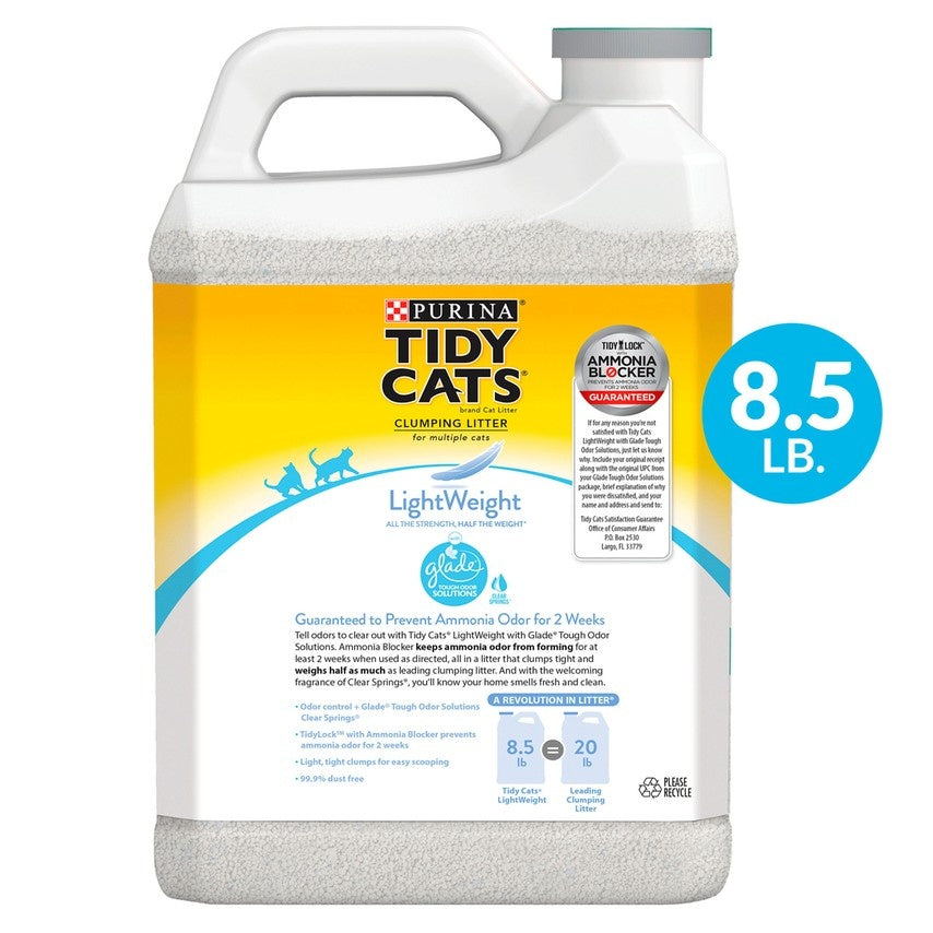 Purina Tidy Cats Glade Tough Odor Solutions Clear Springs Clumping Cat Litter