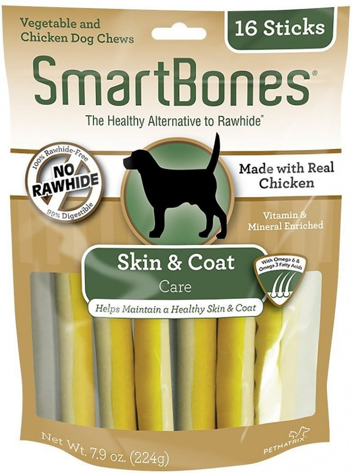 SmartBones Skin & Coat Care Chicken Chews Dog Treats