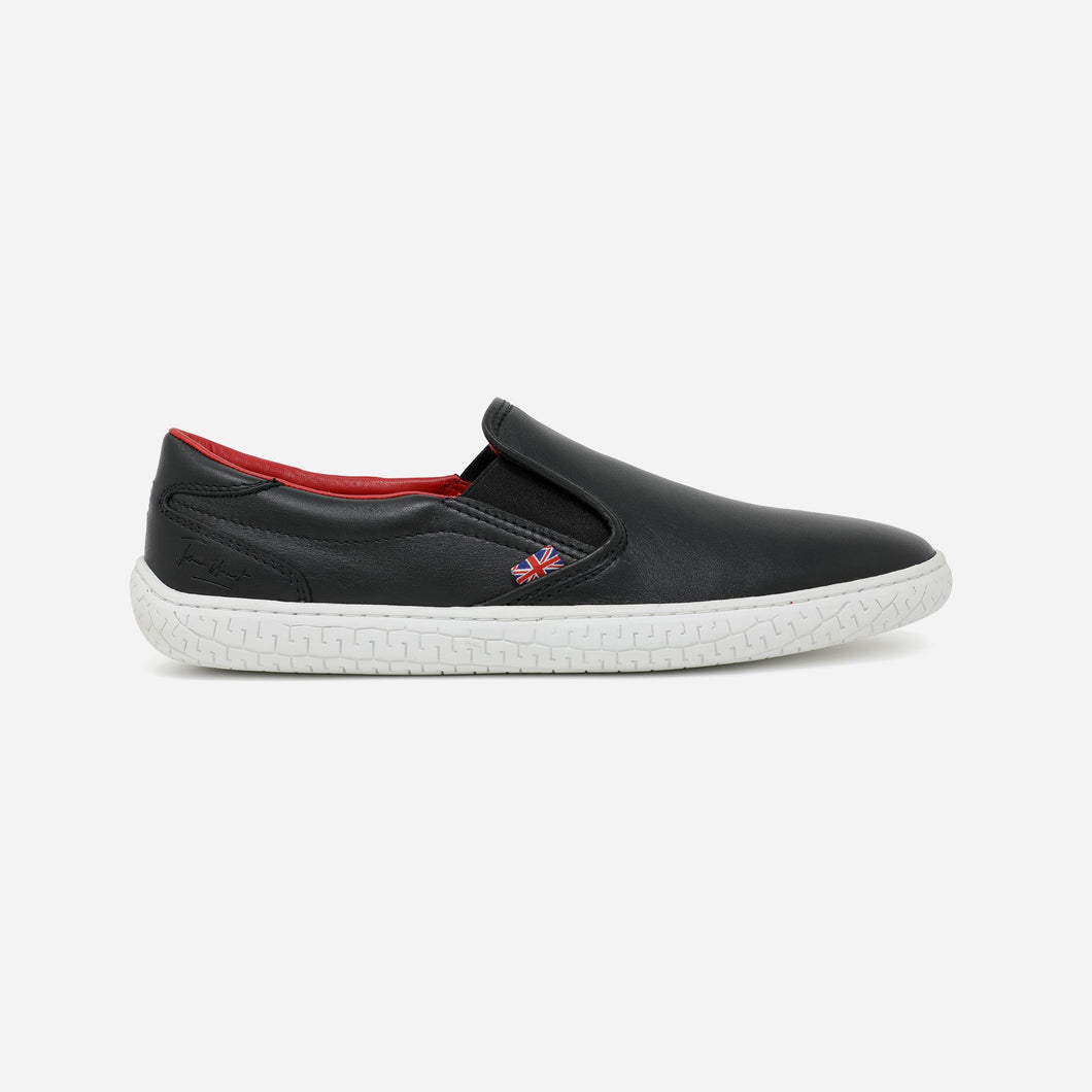 JH-10 - JAMES HUNT SPECIAL EDITION SLIP-ON SHOE - BLACK-RED
