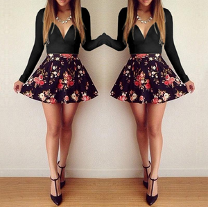 Flowers party mini dress