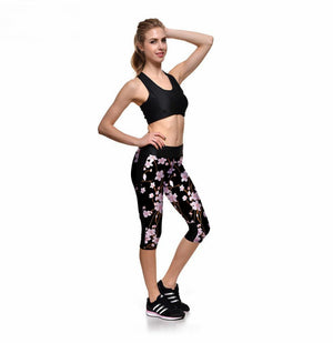 Winter bloom sport leggings