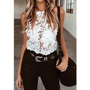 Women Lace trandparent top