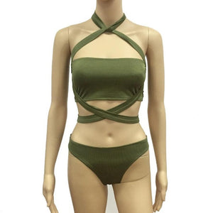 SS18  Bandage Push Up Bikini Sexy
