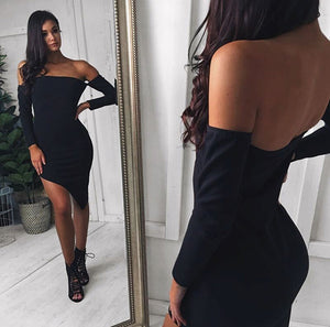 Asymmetrical Sexy Dress