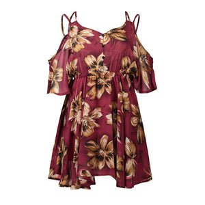 Tropical Chiffon  Summer Dress
