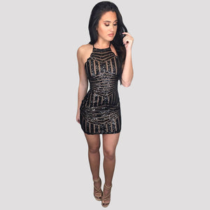 Clubwear Party Mini Dress Black
