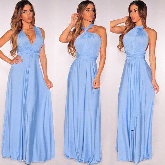 Convertible wrap maxi dress