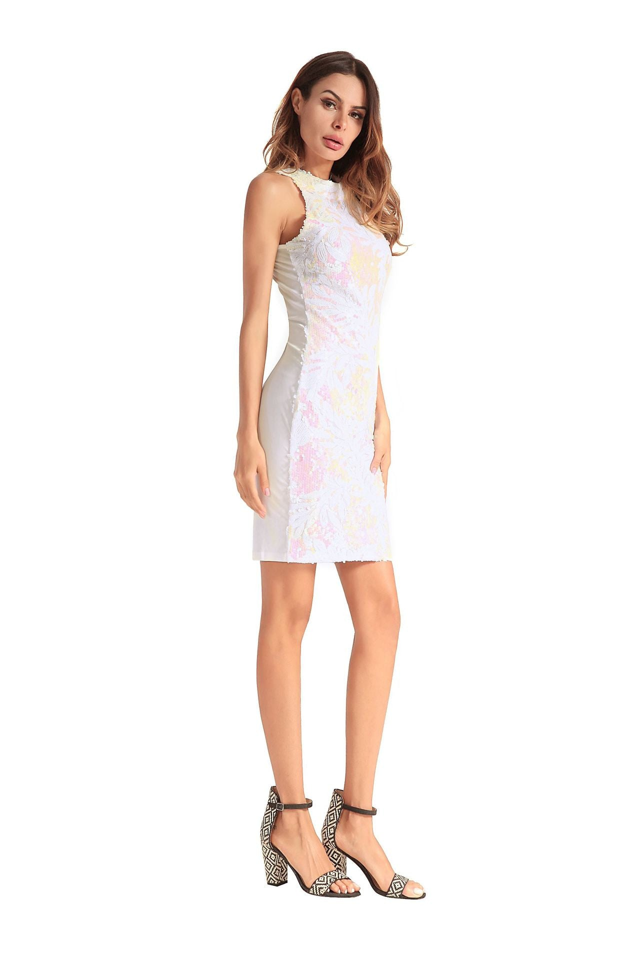 Summer multicolored Cocktail Dress