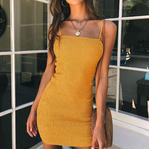 2018 Summer Sexy Spaghetti dress