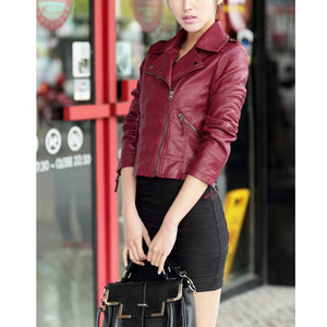 PU faux leather jacket  plus size available