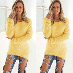 Casual Knitted Sweater yellow