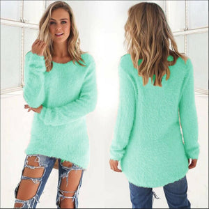 Casual Knitted Sweater turquoise