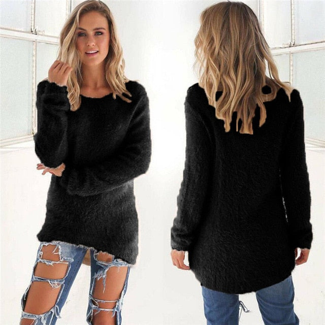 Casual Knitted Sweater black