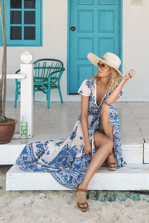 Floral Print Summer Beach Party Sundress