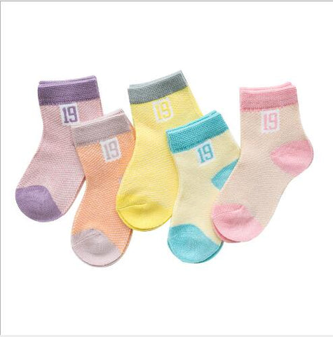 5 Pairs Pack Infant Girls Summer Socks