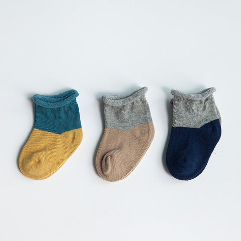 3 Pairs Baby Boys Warm Striped Socks