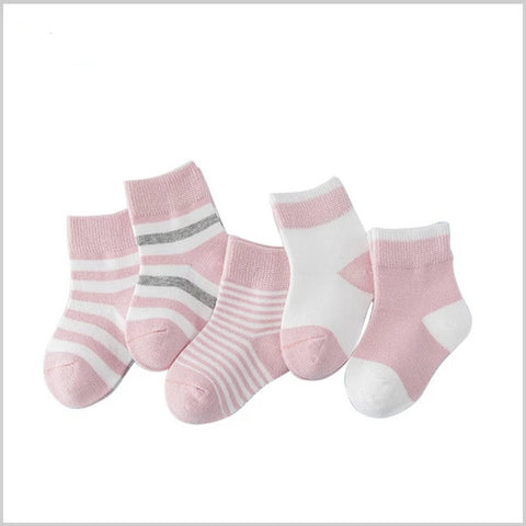 5 Pair/lot Baby Girl Striped Socks